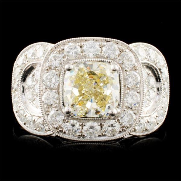 18K Gold 3.43ctw Diamond Ring