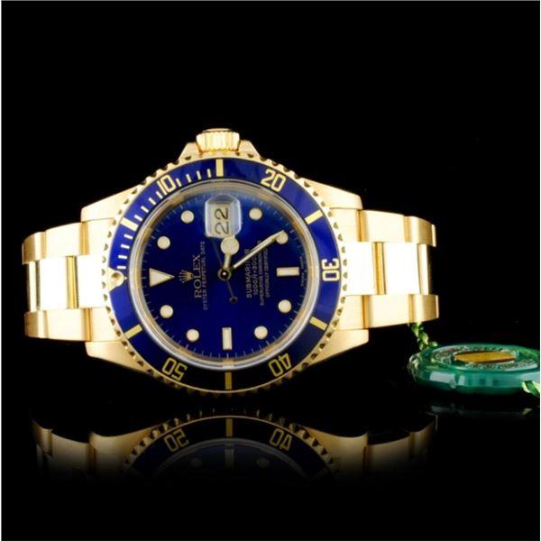 Rolex Submariner 16618 18K Gold 40mm Wristwatch