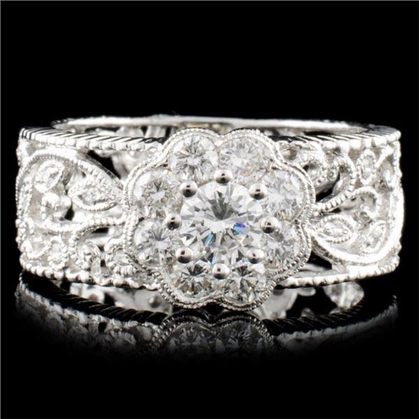 18K Gold 0.92ctw Diamond Ring