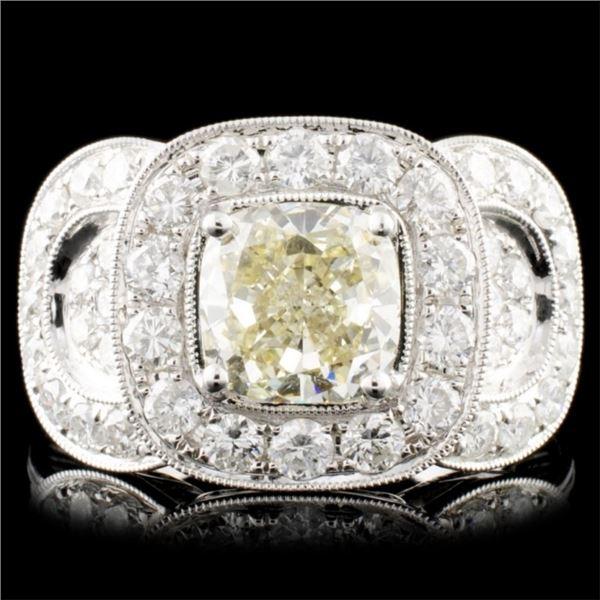 18K Gold 3.43ct Fancy Color Diamond Ring