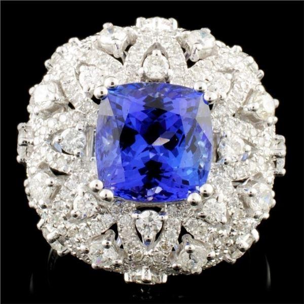 18K Gold 4.00ct Tanzanite & 1.73ctw Diamond Ring
