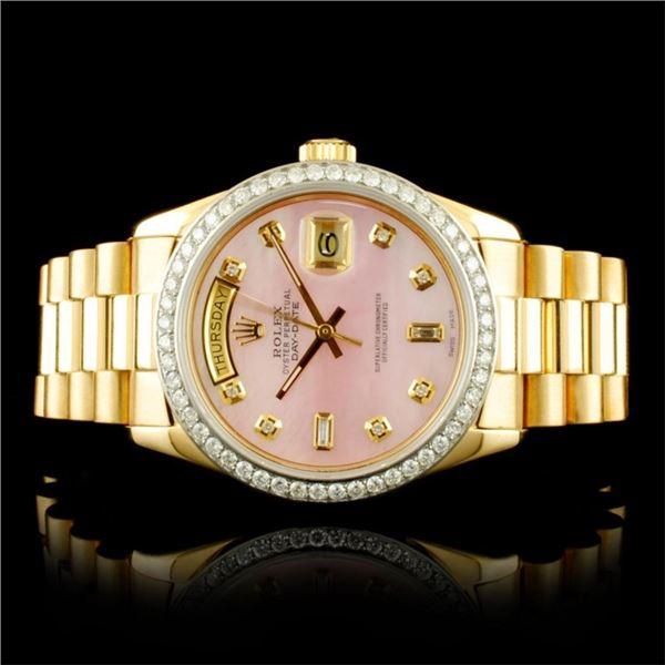 Rolex Day-Date 18K YG 1.35ct Diamond Wristwatch
