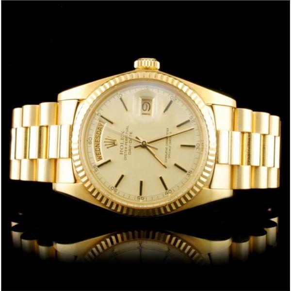 Rolex Day-Date 18K YG 36MM Wristwatch