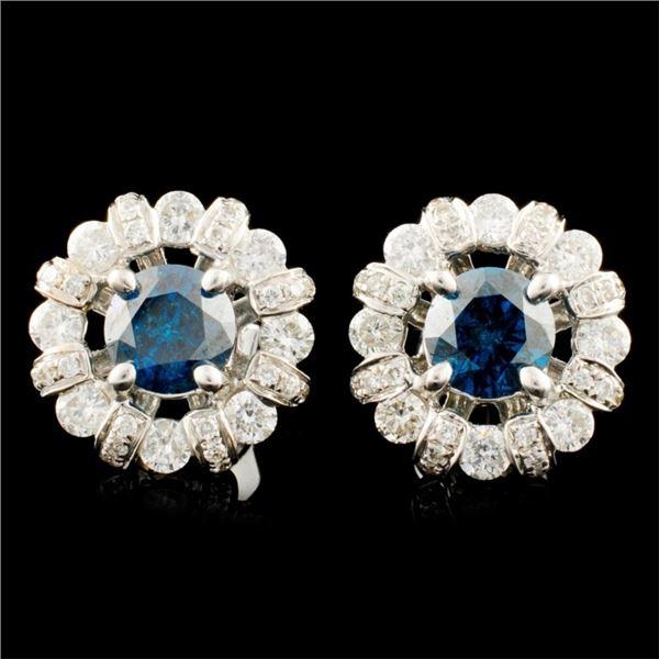 18K Gold 1.67ctw Diamond Earrings