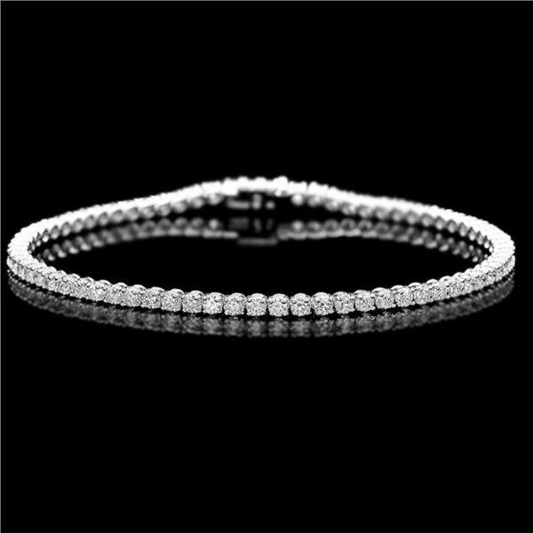 ^18k White Gold 3.50ct Diamond Bracelet