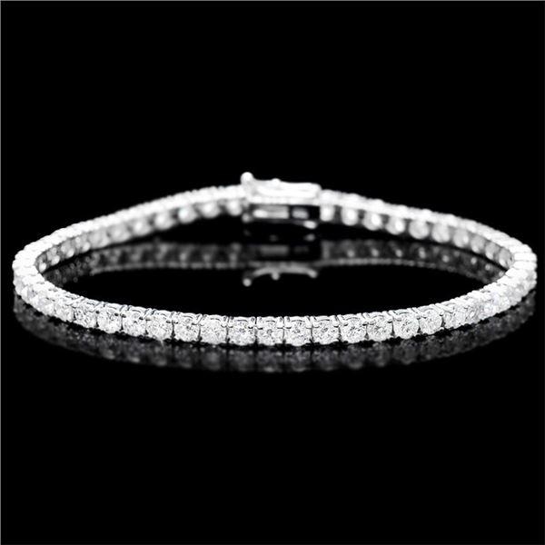 18k White Gold 7.00ct Diamond Bracelet