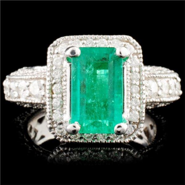 14K Gold 2.38ct Emerald & 1.51ctw Diamond Ring