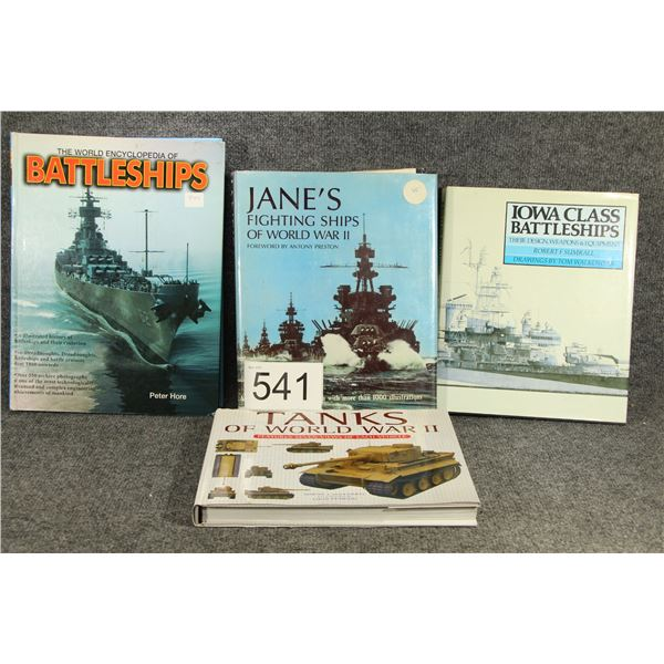 *NEW ENTRY* 4 Military Hard Cover Books