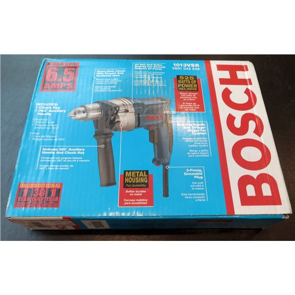 "Bosch High-Speed 1/2"" Drill 6.5 Amps Model 1013VSR New in Box"
