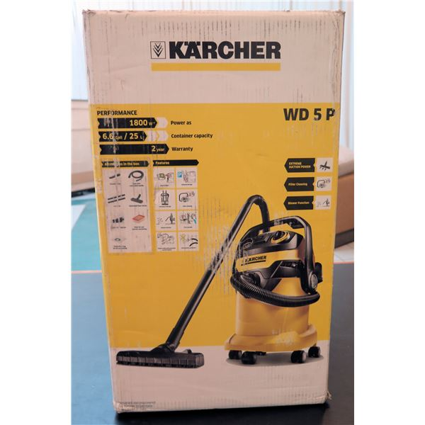 Karcher Performance Wet/Dry Shop Vacuum Model WD 5 P New in Box