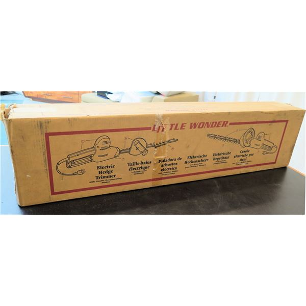 Little Wonder Electric Hedge Trimmer w/ Double Reciprocating Blades New in Box