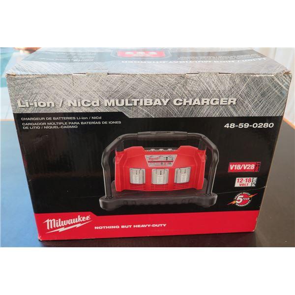 Milwaukee Li-ion / NiCd Multibay Charger Model 48-59-0280 New in Box