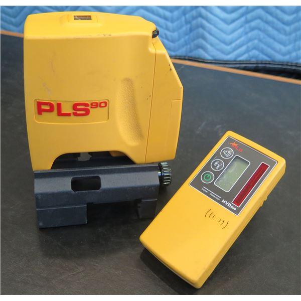 Pacific Laser Systems Laser PLS90 w/ PLS Laser Detector HVD500 (Demo/Display Unit)