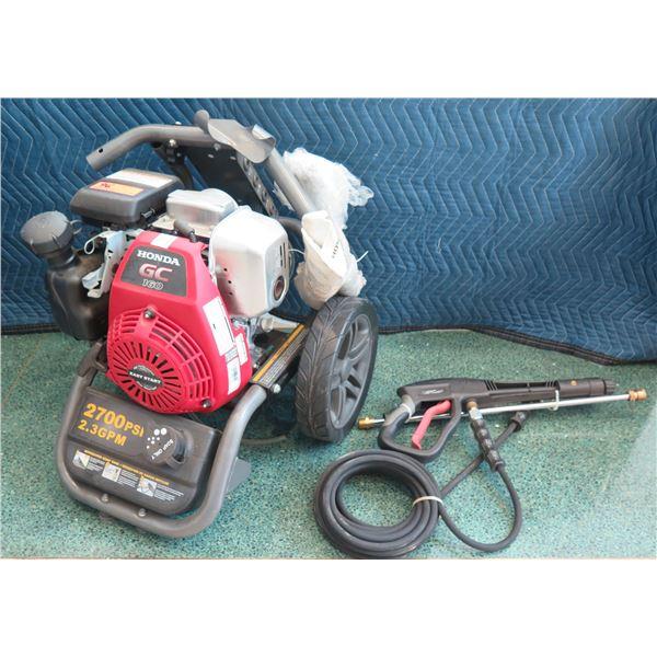 BE Honda Pressure Washer 2700 PSI 2.3 GPM Model GC160