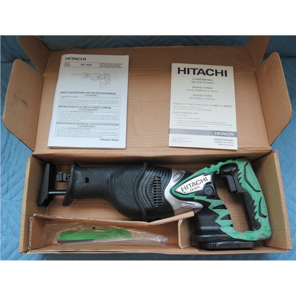 Hitachi 18V Cordless Reciprocating Saw Model CR 18DL New in Box