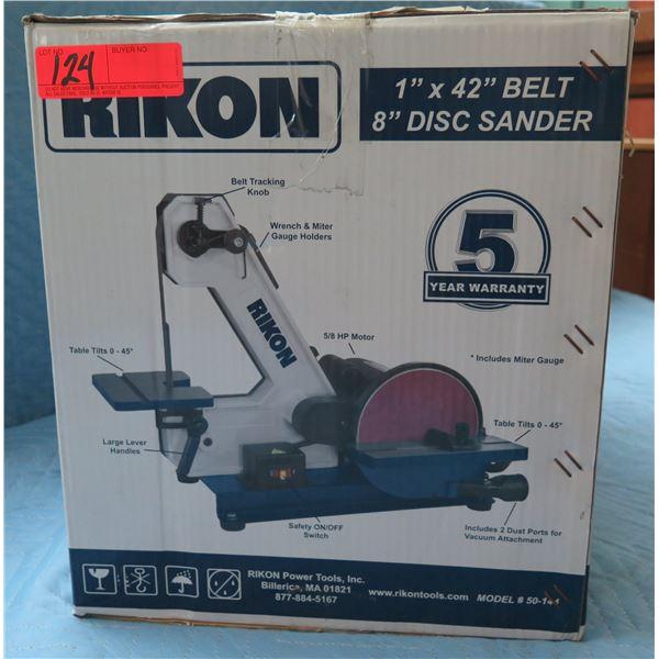 """Rikon 1""""x42"""" Belt / 8"""" Disc Sander Model 50-144 New in Box"""