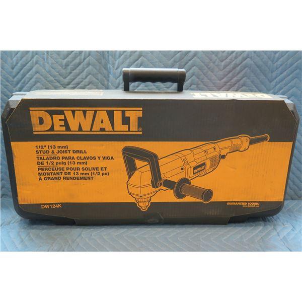 """DeWalt 13mm 1/2"""" Stud & Joist Drill Model DW124K New in Box"""