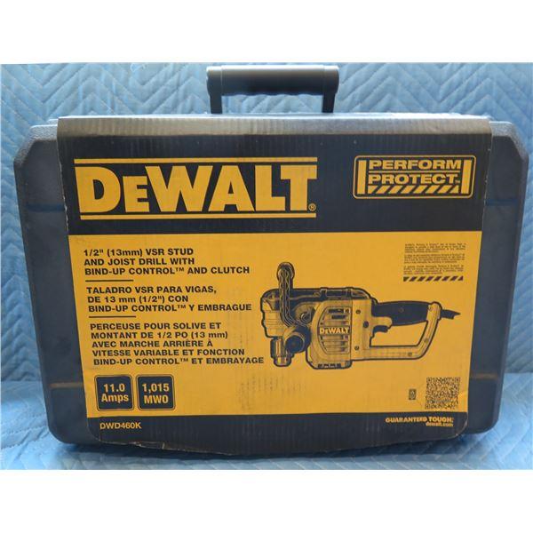 """DeWalt 13mm 1/2"""" Stud & Joist Drill w/ Clutch Model DWD460K New in Box"""