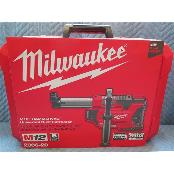 Milwaukee M12 HamamerVac Universal Dust Extractor Model 2306-20 New in Box