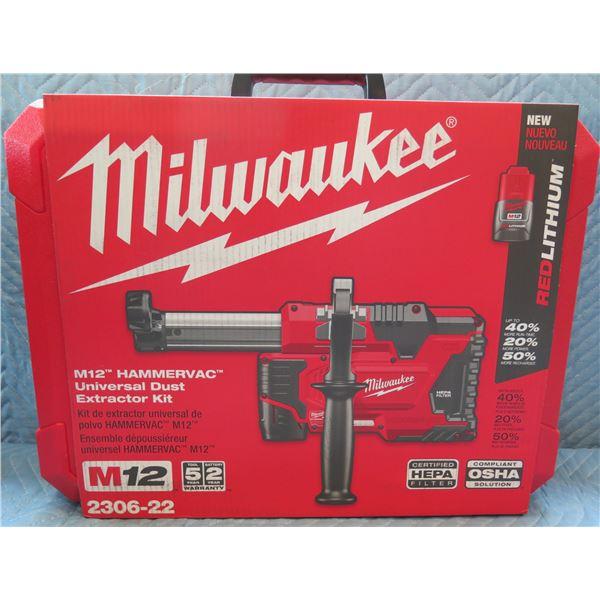 Milwaukee M12 HamamerVac Universal Dust Extractor Model 2306-22 New in Box