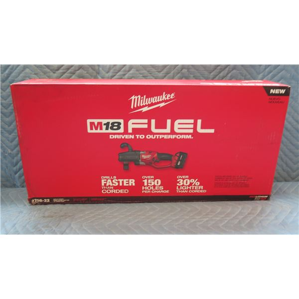 Milwaukee M18 Fuel Hole Hawg Right Angle Drill Kit Model 2708-22 New in Box