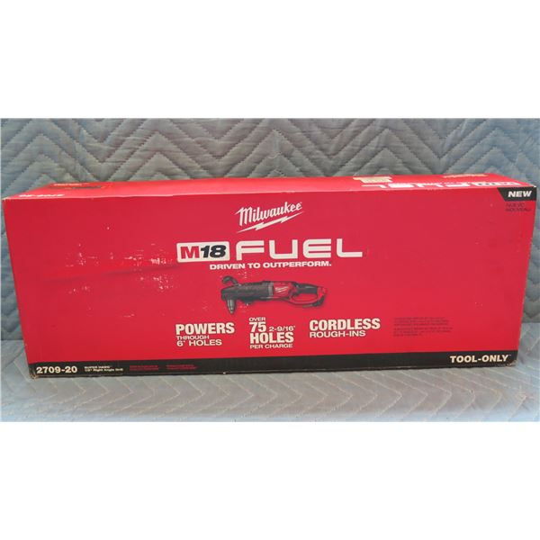 Milwaukee M18 Fuel Super Hawg Right Angle Drill Kit Model 2709-20 New in Box