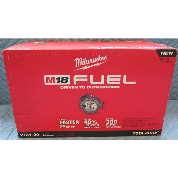 "Milwaukee M18 Fuel 7-1/4"" Circular Saw Model 2731-20 New in Box"