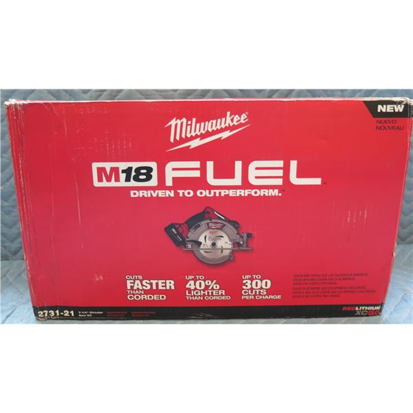 "Milwaukee M18 Fuel 7-1/4"" Circular Saw Model 2731-21 New in Box"