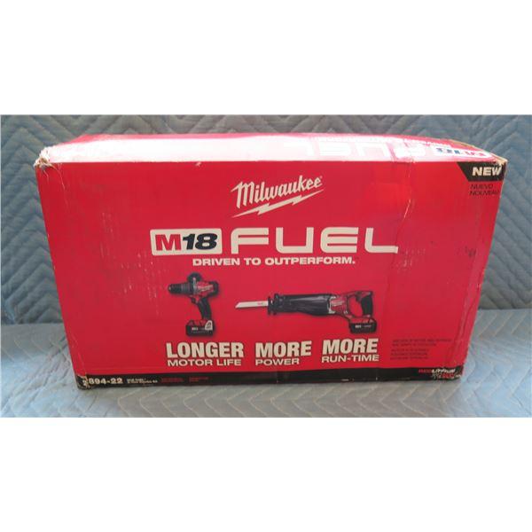 Milwaukee M18 Fuel 2-Tool Combo Kit Model 2894-22 New in Box