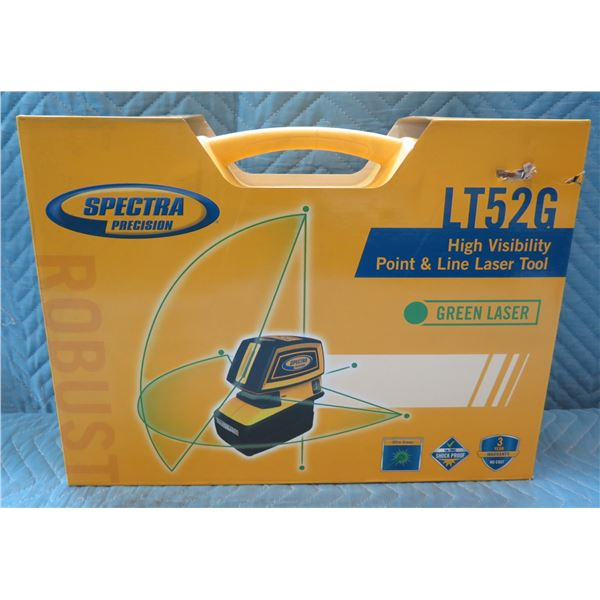 Spectra Precision High Visibility Point & Line Laser Tool Model LT52G New in Box