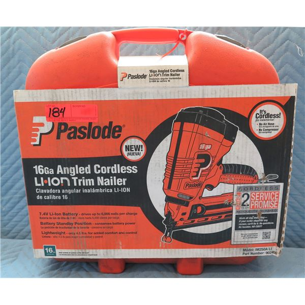Paslode Cordless 16 Ga Angle Li-ion Trim Nailer Model 902400 New in Box