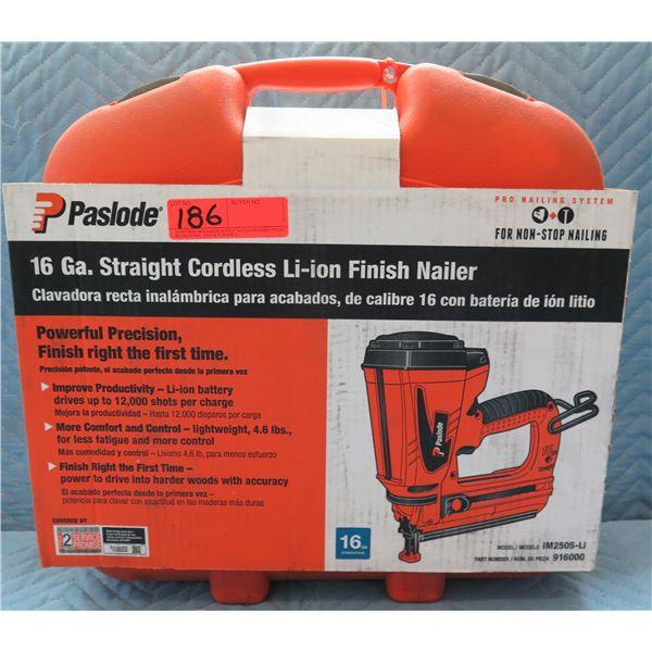 Paslode Cordless 16 Ga Straight Li-ion Finish Nailer Model 916000 New in Box