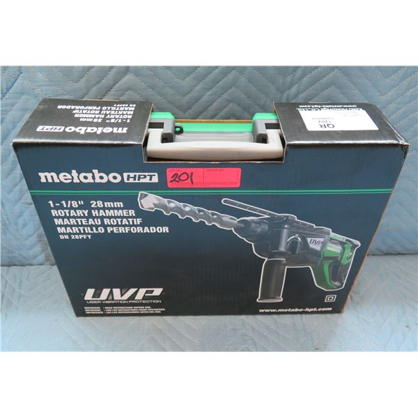 """Metabo HPT 1-1/8"""" Rotary Hammer Model DH 28PFY New in Box"""