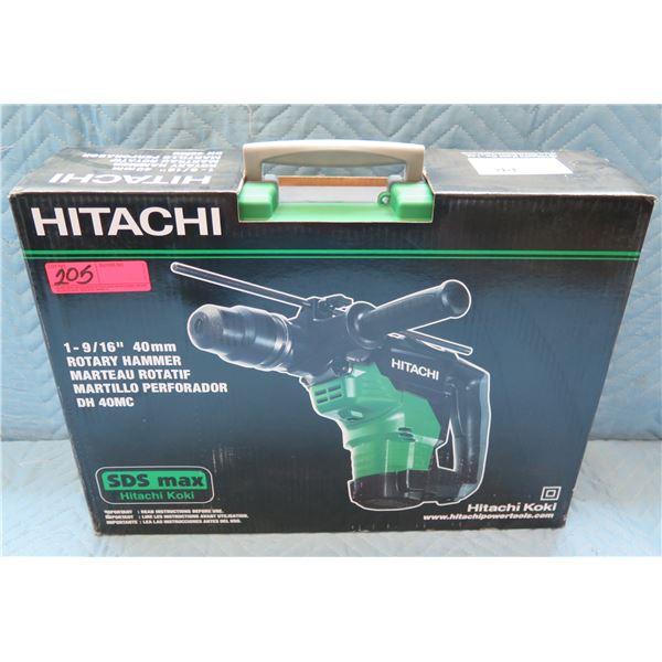 "Hitachi 1/9/16"" 40mm Rotary Hammer Model DH 40MC New in Box"