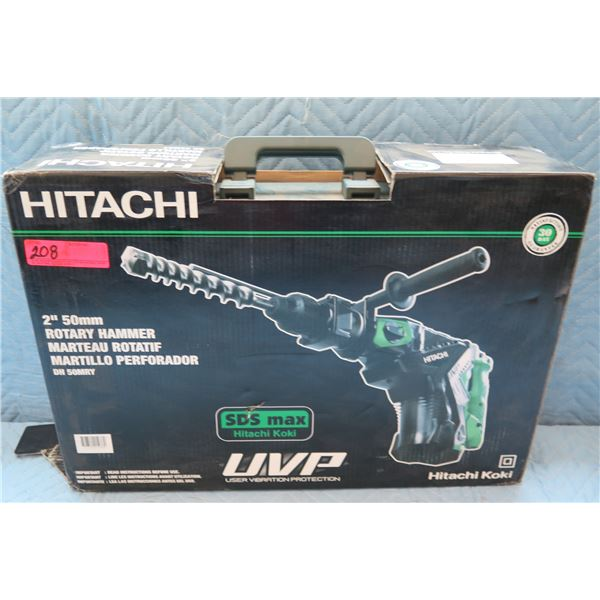 "Hitachi 50mm 2"" Rotary Hammer Model DH 50MRY New in Box"