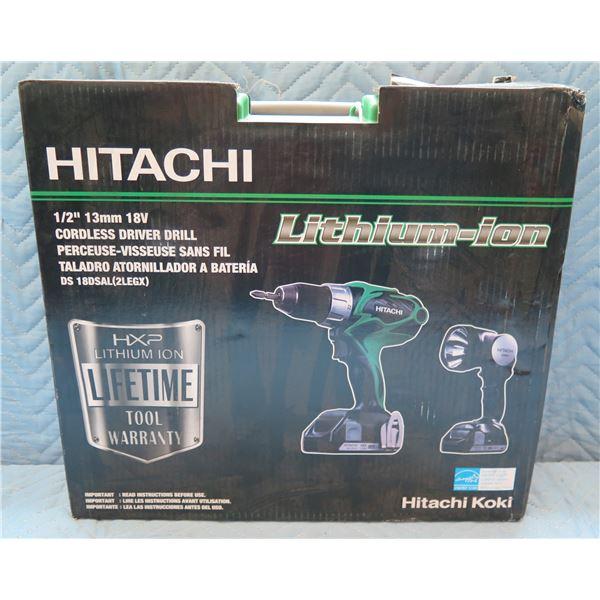 """Hitachi 1/2"""" 13mm Cordless Driver Drill Model DS 18DSAL(2LEGX) New in Box"""