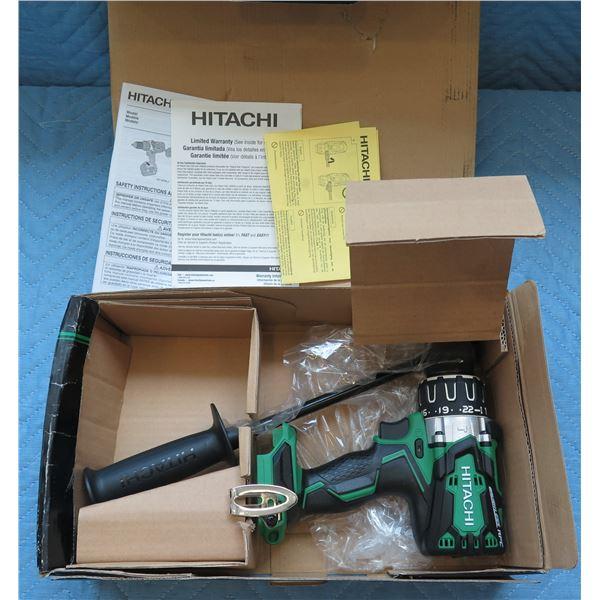 "Hitachi 1/2"" 13mm Cordless Hammer Drill Model DV 18DBL2 P4 New in Box"