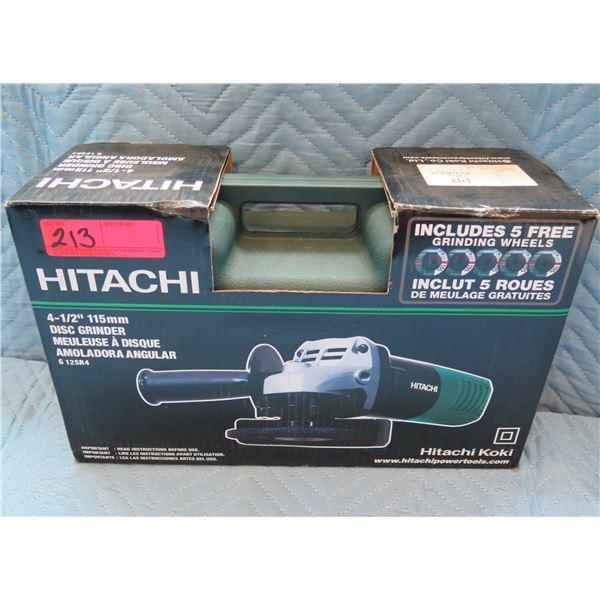 "Hitachi 4-1/2"" 115mm Disc Grinder Model G12SR4 New in Box"