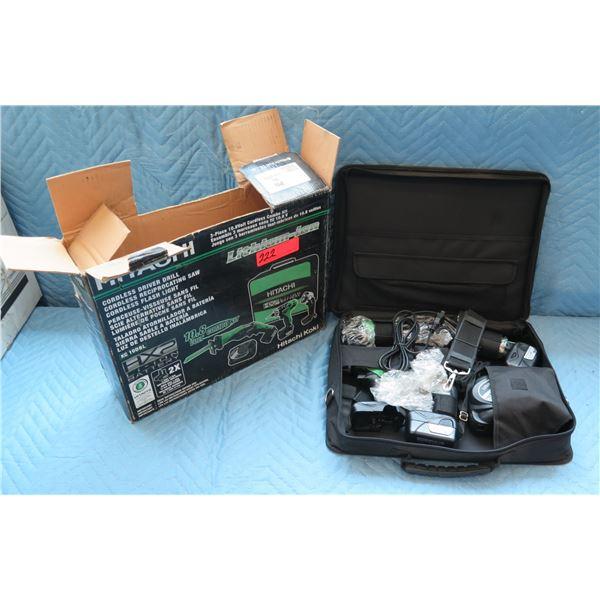 Hitachi Cordless Driver Drill / Reciprocating Saw / Flash Light Model KC10DBL New