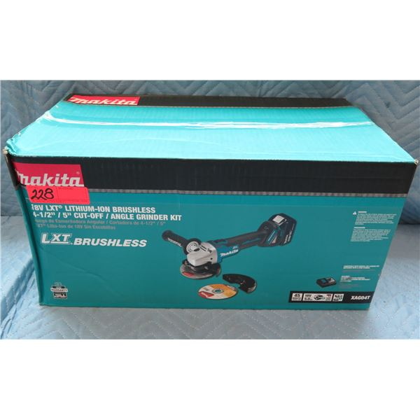 Makita LXT Lithium-Ion Brushless Angle Grinder Model UN3481 New in Box