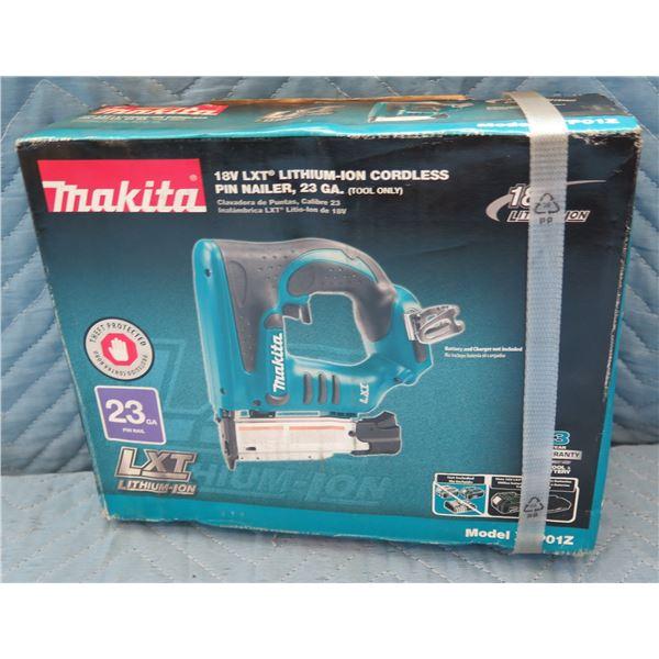 Makita LXT Lithium-Ion Cordless Pin Nailer Model XTP01Z New in Box