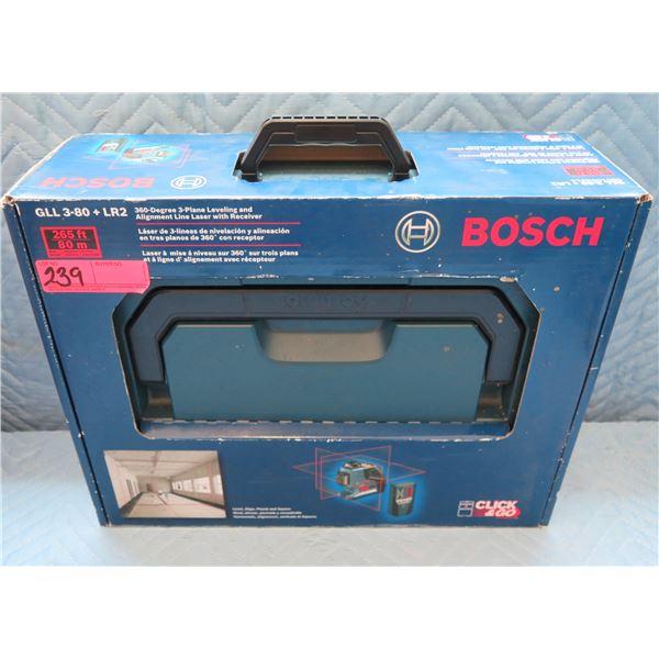 Bosch 3-Plane Levelling & Alignment Laser Model GLL 3-80 + LR2 New in Box