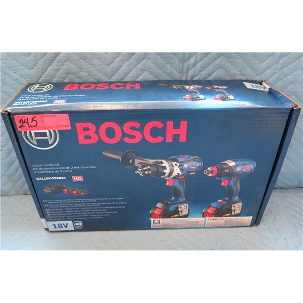 Bosch 2 Tool Combo Kit Model GXL18V-225B24 New in Box