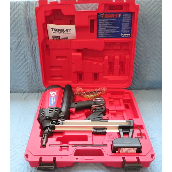 Powers Fasteners Trak-It C5 Gas Fastening Tool in Hard Case