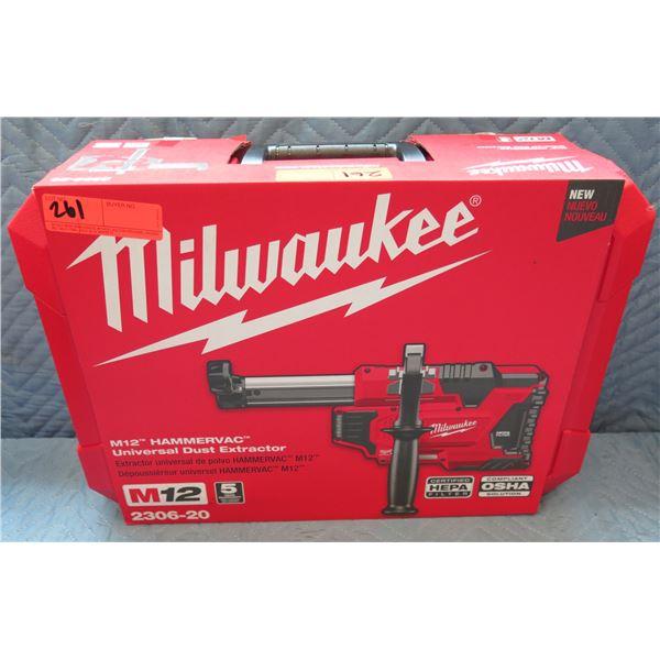 Milwaukee M12 HammerVac Universal Dust Extractor Model 2306-20 New in Box