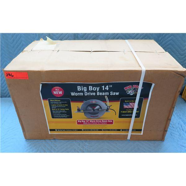 "Big Boy 14"" Worm Drive Beam Saw New in Box"