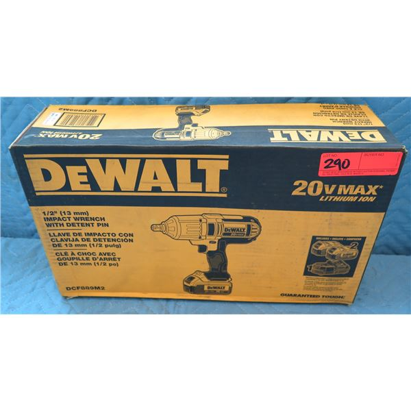 "DeWalt 1/2"" (13mm) Impact Wrench w/ Detent Pin Model DCF889M2 New in Box"