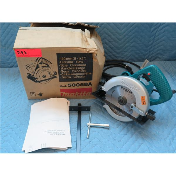 """Makita 140mm (5-1/2"""") Circular Saw Model 5005BA  New in Box"""