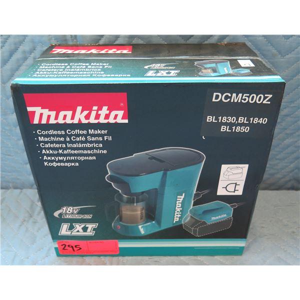 Makita Cordless Coffee Maker Model DCM500Z New in Box