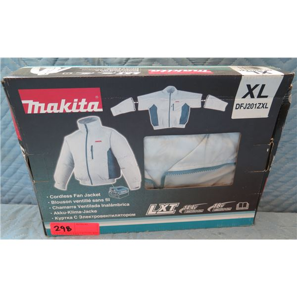 Makita Cordless Fan Jacket XL Model DFJ201ZXL New in Box